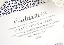 Load image into Gallery viewer, Oklahoma City Skyline Weddings Rehearsal Dinner Invitations (set of 25 cards)