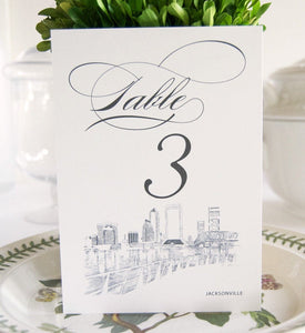 Jacksonville Skyline Table Numbers (1-10)