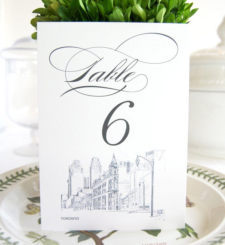 Toronto Skyline Table Numbers (1-10)