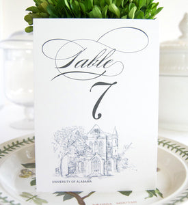 University of Alabama, Crimson Tide Skyline Table Numbers (1-10)