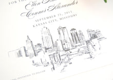 Load image into Gallery viewer, Kansas City Skyline Save the Date Cards (set of 25 cards)