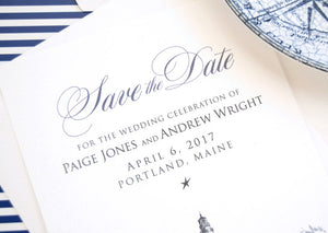 Portland Head Light House Save the Dates, Maine Wedding, Maine Save the Date, Portland Headlight HouseSave the Date Cards, STD (set of 25)