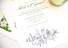 Load image into Gallery viewer, Kansas City Skyline Engagement Party Invitations, Kansas City Engagement Announcements You Design it! (set of 25 cards)