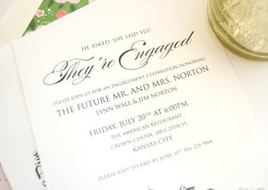 Kansas City Skyline Engagement Party Invitations, Kansas City Engagement Announcements You Design it! (set of 25 cards)