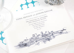 St Paul Skyline Wedding Invitations Package (Sold in Sets of 10 Invitations, RSVP Cards + Envelopes)