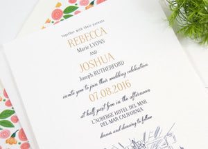 L'Auberge Del Mar Wedding Invitations  (Sold in Sets of 10 Invitations, RSVP Cards + Envelopes)