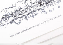 Load image into Gallery viewer, Philadelphia Boathouse Row Wedding Invitations Package (Sold in Sets of 10 Invitations, RSVP Cards + Envelopes)