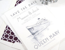 Load image into Gallery viewer, The Queen Mary, Long Beach Save the Date Cards (set of 25 cards)