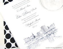 Load image into Gallery viewer, Hartford, Connecticut  Skyline Wedding Invitations Package (Sold in Sets of 10 Invitations, RSVP Cards + Envelopes)