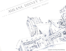 Load image into Gallery viewer, Aulani , Disney Resort Destination Wedding Invitations Package (Sold in Sets of 10 Invitations, RSVP Cards + Envelopes)