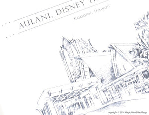Aulani , Disney Resort Destination Wedding Invitations Package (Sold in Sets of 10 Invitations, RSVP Cards + Envelopes)