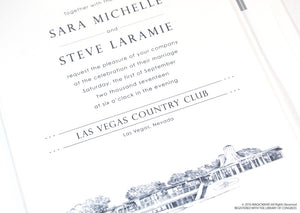 The Las Vegas Country Club Wedding Invitations Package (Sold in Sets of 10 Invitations, RSVP Cards + Envelopes)