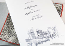 Load image into Gallery viewer, Atlanta Skyline Wedding Programs (set of 25 cards)