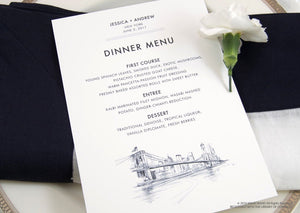 New York Skyline Dinner Menus (Sold in sets of 25)