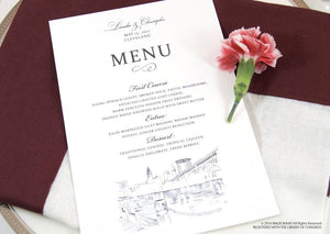 Cleveland Skyline Dinner Menus (Sold in sets of 25)