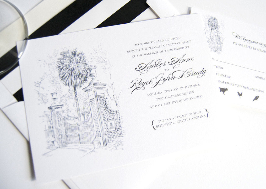 University of South Carolina Invitation Package (Sold in Sets of 10 Invitations, RSVP Cards + Envelopes)