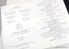 Load image into Gallery viewer, Miami Skyline Wedding Programs (set of 25 cards)