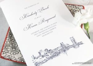Sacramento Skyline Wedding Programs (set of 25 cards)