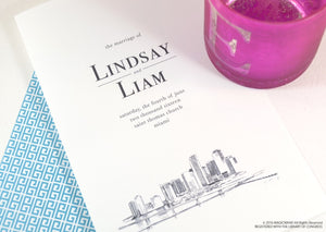 Miami Skyline Wedding Programs (set of 25 cards)