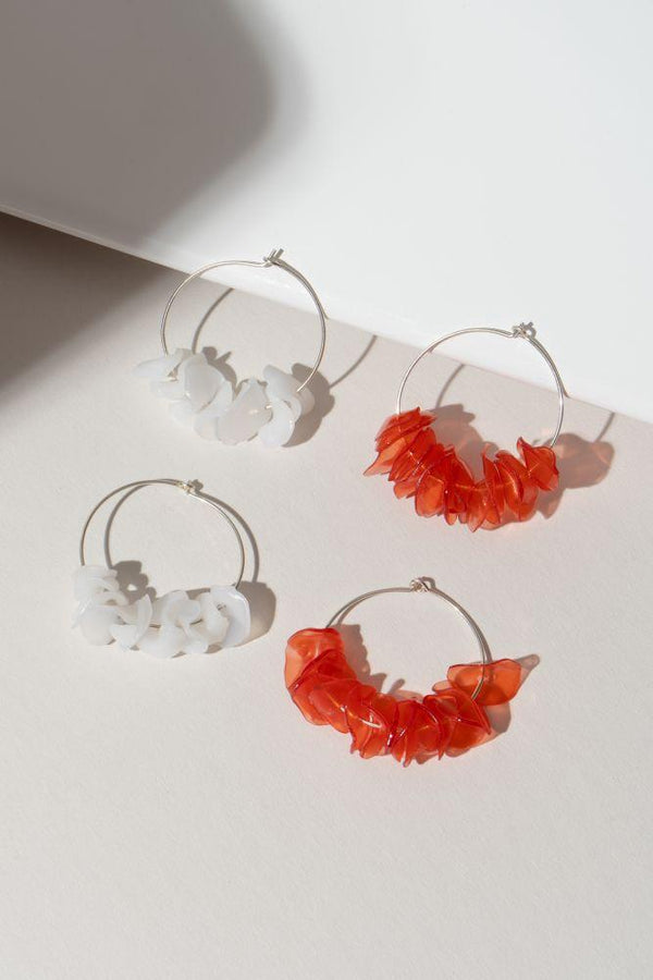 Alice Coral Hoops - i.cluie.com