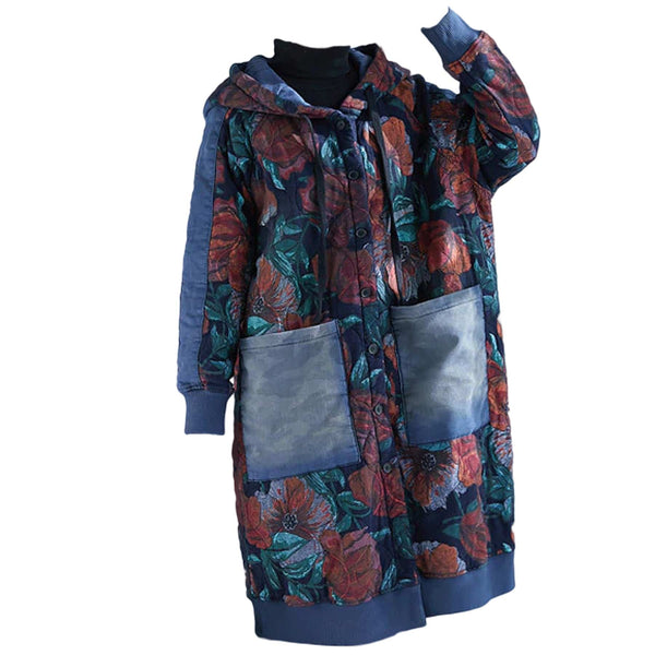 Alison Floral Cotton Padded Coat - i.cluie.com