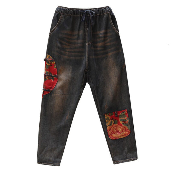 Bonga Fur Lined Denim Trousers - i.cluie.com
