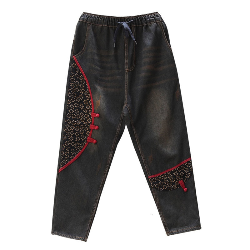 Coree' Fur Lined Denim Trousers - i.cluie.com