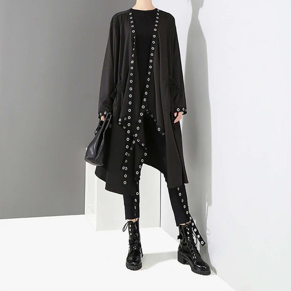 Indie Metal Ring Cloak Jacket - i.cluie.com