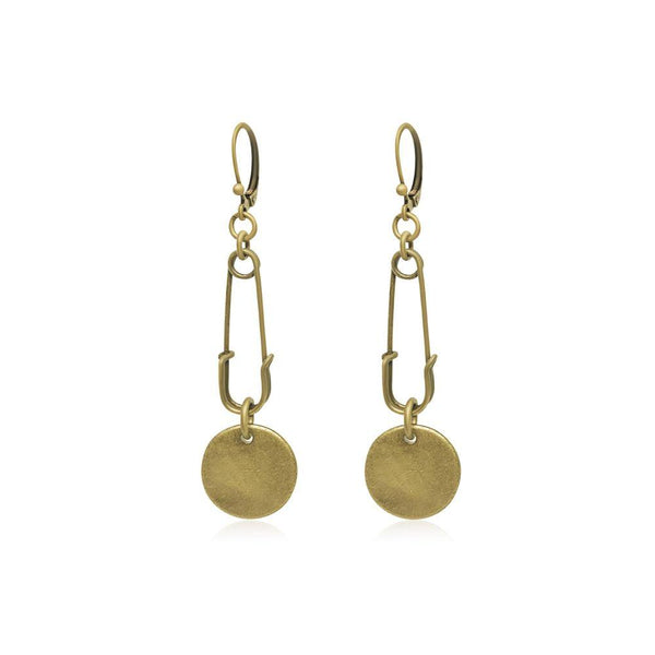 Jackson Earrings Gold - i.cluie.com
