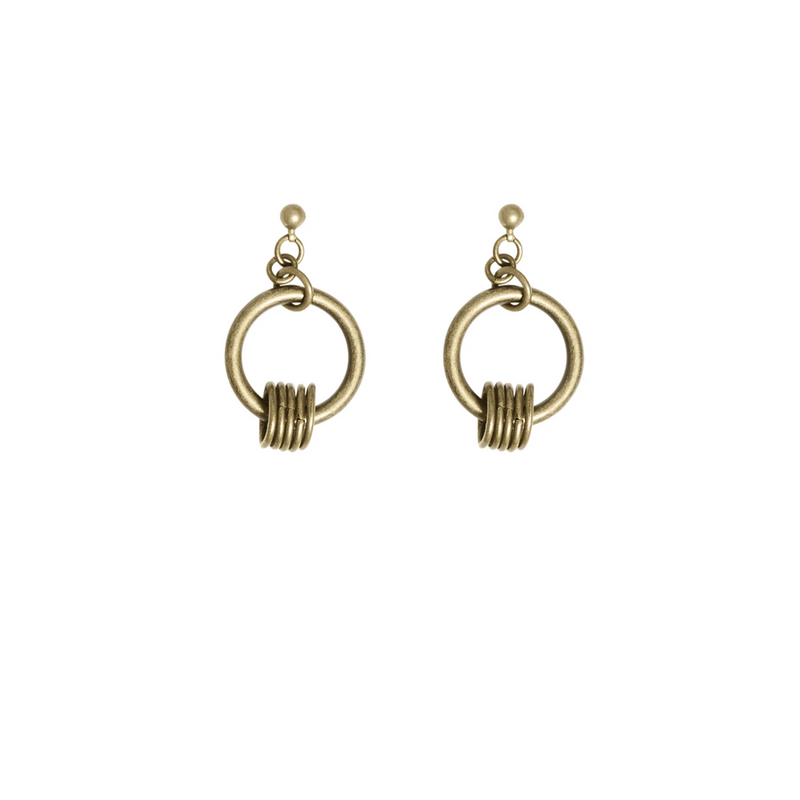Jean Earrings Gold - i.cluie.com
