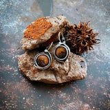 Mars and Moons Earrings - Stud or Leverback - i.cluie.com