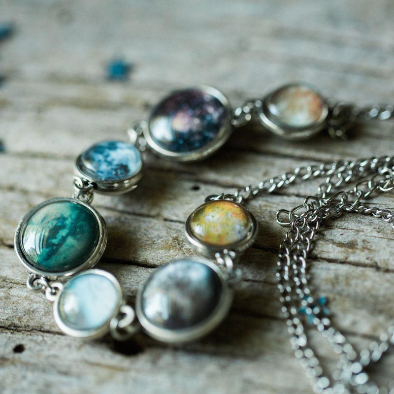 Moons of the Solar System Double Sided Necklace - i.cluie.com
