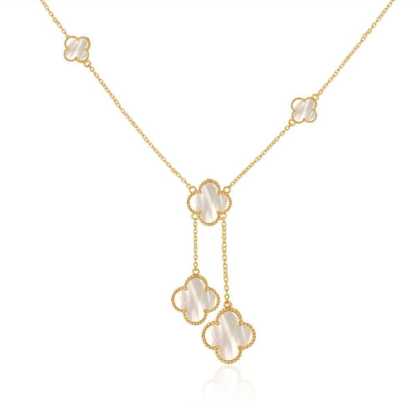 Mother Of Pearl Quatrefoil Necklace - Faith.Hope.Love.Luck. - i.cluie.com