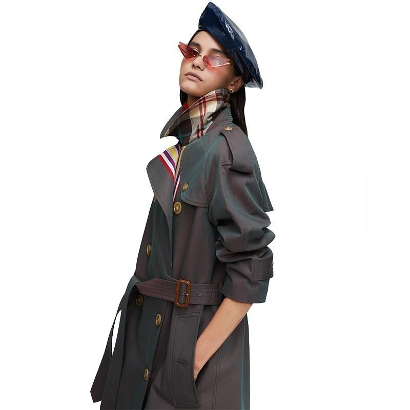Sheri Cotton Belted Trench Coat - i.cluie.com