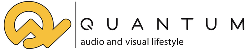 Quantum Audio and Visual Lifestyle Logo