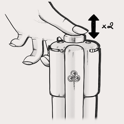 Image showing spray pressed twice