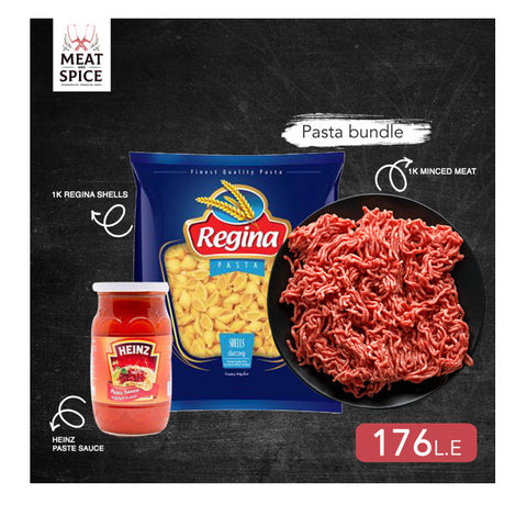 Minced meat and pasta sauce pasta bundle
