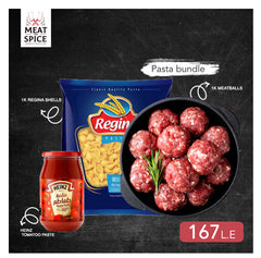 Meatballs and Tomato sauce pasta bundle
