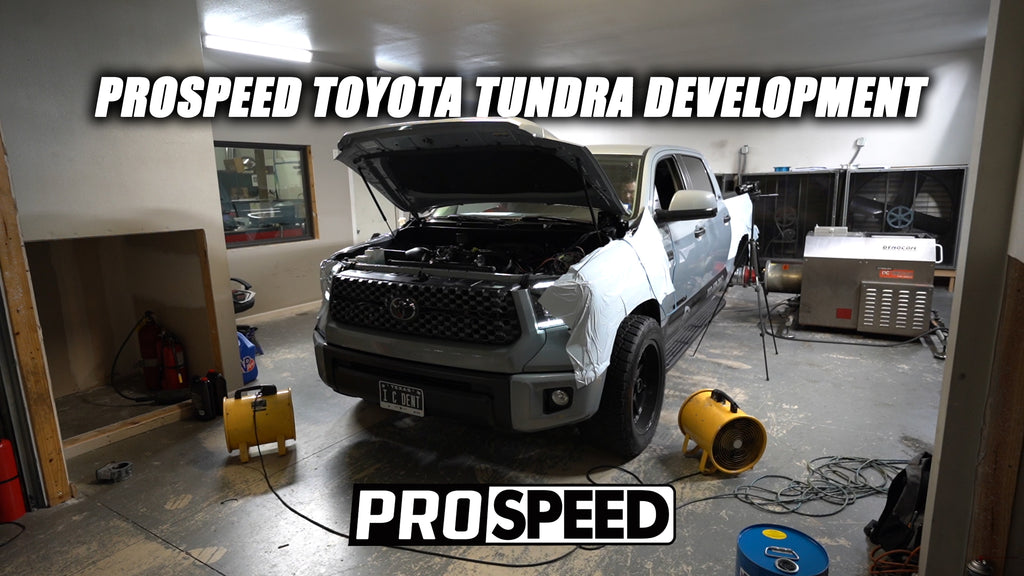 Supercharged Tundra Race Intake and RCF Throttle Body Adapter Kit Testing