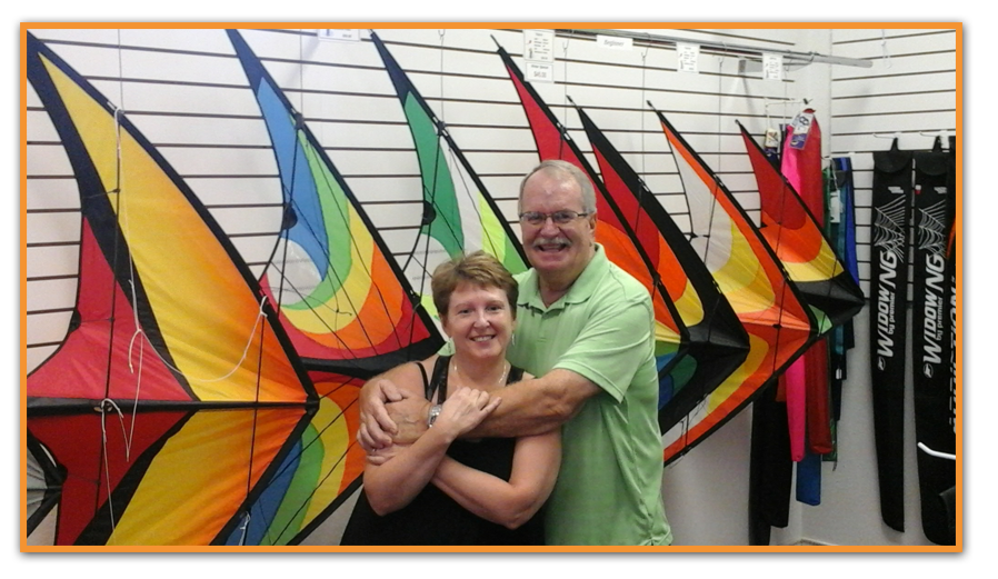 Bill and Susie Doan of B & S Kites