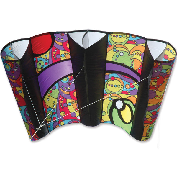 Jumbo Power Sled 36 Kite - Rainbow Orbit