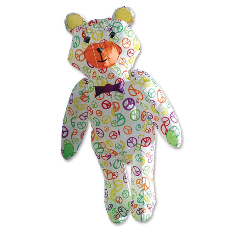 Teddy Bear Kite - Peace Signs