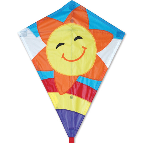 25 in. Diamond Kite - Smiley Sun