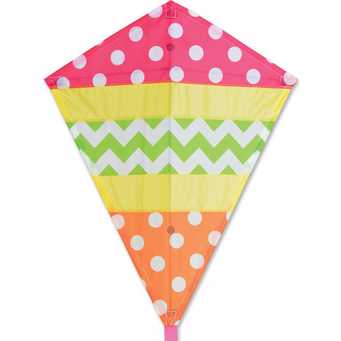 25 in. Diamond Kite - Cheerful
