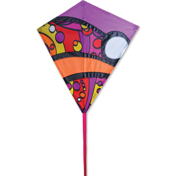 30 in. Diamond Kite - Warm Orbit
