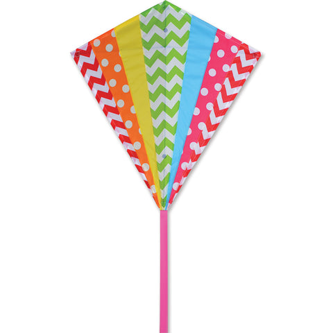 30 in. Diamond Kite - Hip Rainbow