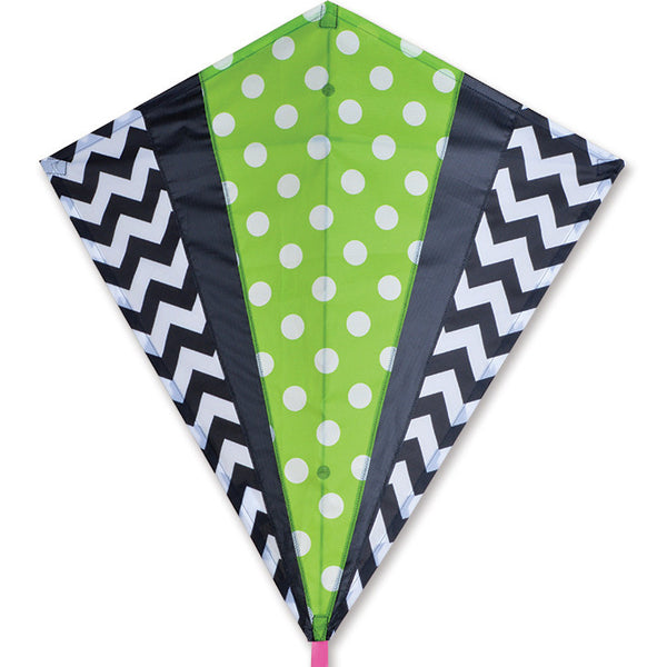 30 in. Diamond Kite - Green Mod