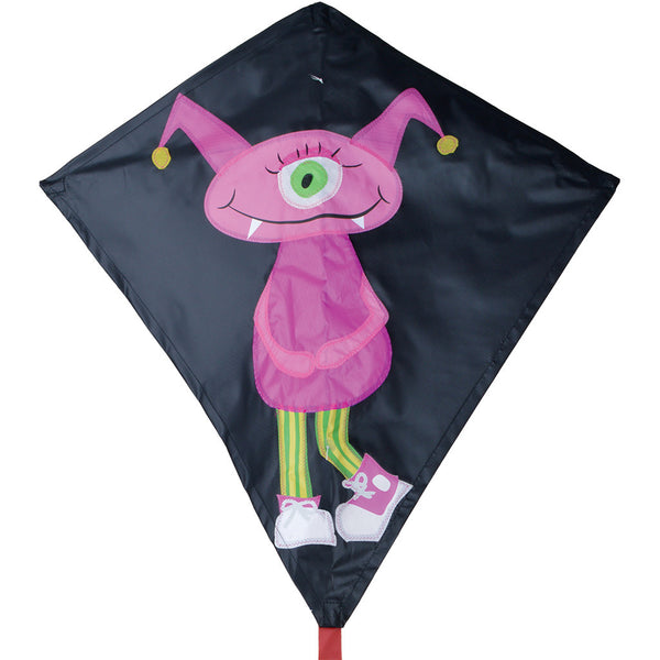 30 in. Diamond Kite - Girl Monster