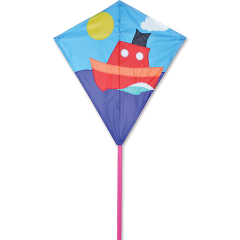 30 in. Diamond Kite - Tugboat