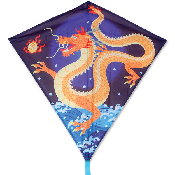 30 in. Diamond Kite - Asian Dragon